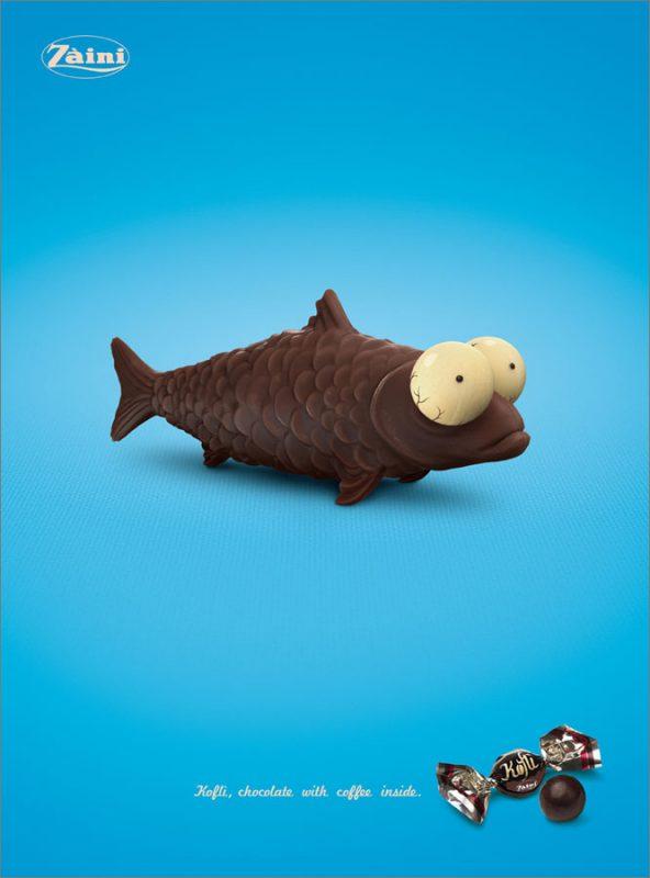Zaimi с шоколадова риба