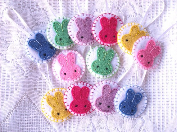 easter bunny ornaments easter decorations spring decor felt bunnies felt rabbit easter ornaments-f94513