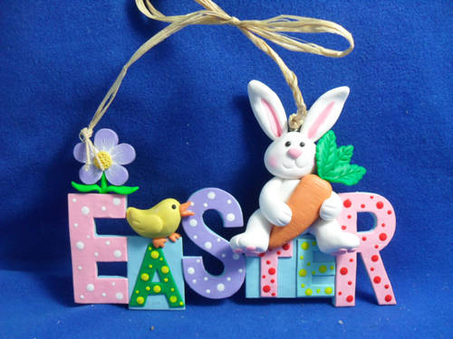 Polymer_Clay_Dough_Handimade_Crafts_Easter_Gift_Rabbit